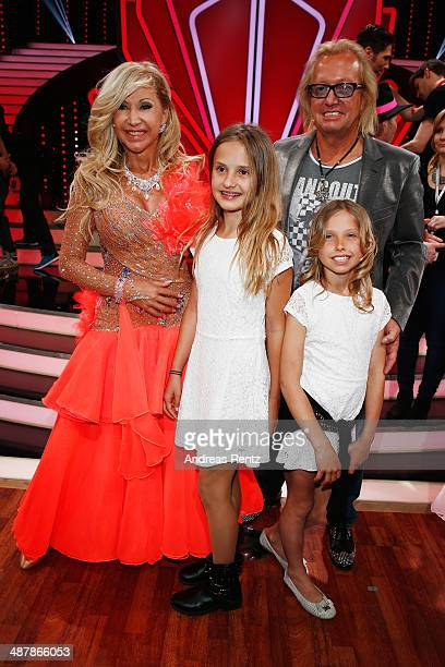 Robert Geiss with wife Carmen and their daughters Davina und Shania attend the 5th show of 'Let's Dance' on RTL at Coloneum on May 2 2014 in Cologne...