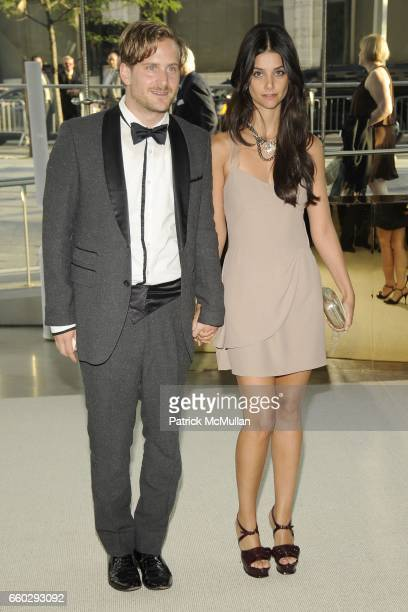 Robert Gellar and Ana Lerario attend CFDA AWARDS 2009 INSIDE at Alice Tully Hall on June 15 2009 in New York City