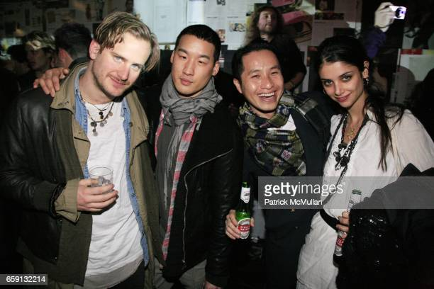 Robert Geller Richard Chai Philip Lim and Ana LerarioGeller attend RADAR ENTERTAINMENT THE LAST MAGAZINE Toast Fashion Week at Studio 385 Broadway on...