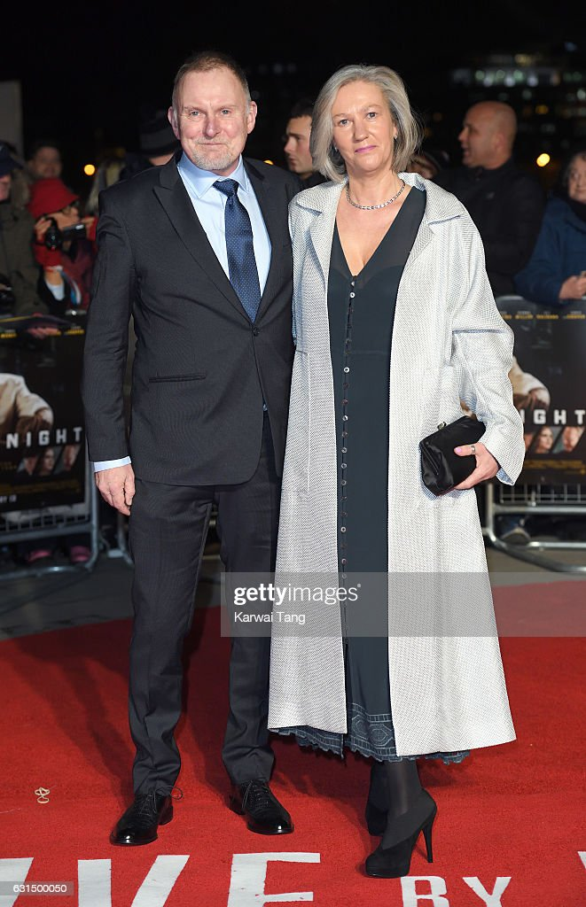 Robert Glenister and Celia de Wolff attend the European Film Premiere of 'Live By Night' at The BFI Southbank on January 11, 2017 in London, United Kingdom.