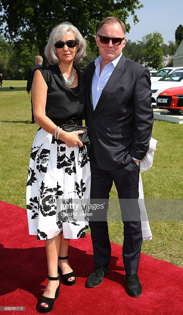 Robert Glenister and Celia Glenister attend day two of the Audi Polo Challenge at Coworth Park on May 29, 2016 in London, England.