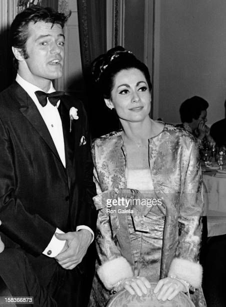 Robert Goulet and Carol Lawrence attend the opening of 'Happy Time' on January 18 1968 at the Plaza Hotel in New York City