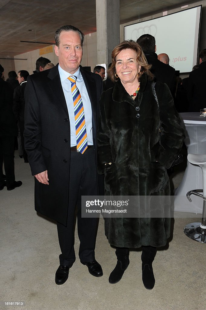 , Robert Graf von Hardenberg and Christa Clarin Graefin von Hardenberg attend the roofing ceremony at Audi second-hand car center on February 13, 2013 in Munich, Germany.