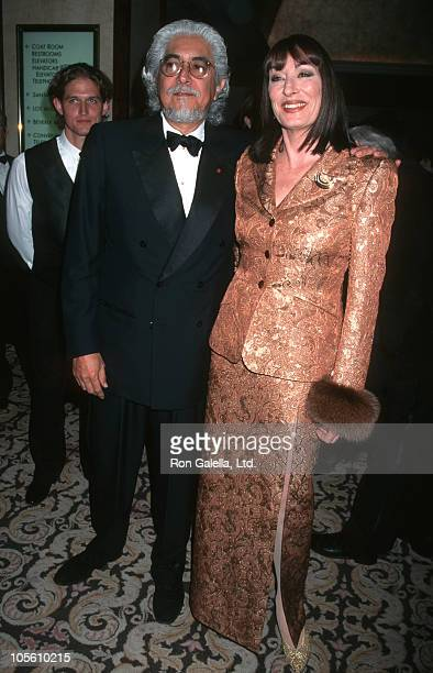Robert Graham and Anjelica Huston during 49th Annual Directors Guild Awards at Century Plaza Hotel in Los Angeles California United States