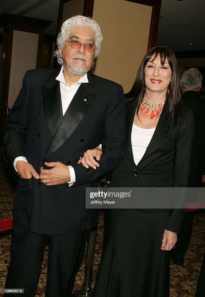 Robert Graham and Anjelica Huston during 58th Annual Directors Guild of America Awards - Arrivals at Hyatt Regency Century Plaza Hotel and Spa in Century City, California, United States.