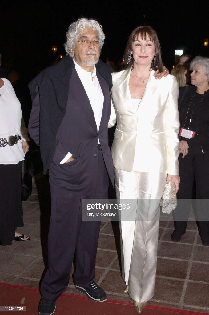 Robert Graham and Anjelica Huston during A Salute to Anjelica Huston in Santa Barbara, California, United States.