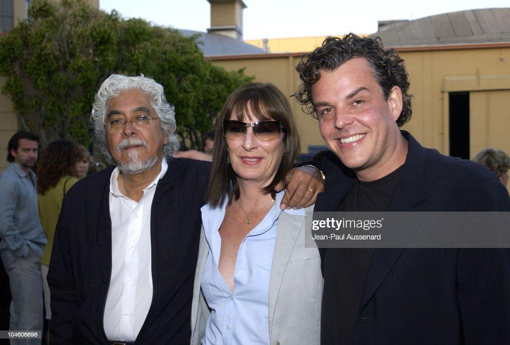 Robert Graham, Anjelica Huston & Danny Huston during 'Ivansxtc' Los Angeles Premiere at Raleigh Studios in Los Angeles, California, United States.
