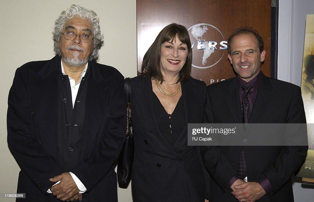 Robert Graham, Anjelica Huston & director Michael Hoffman