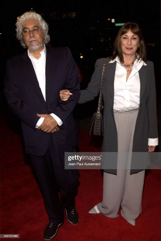 Robert Graham & Anjelica Huston during ATAS & Daily Variety Honor The 54th Annual Primetime Emmy Awards Nominees at Spago in Beverly Hills, California, United States.