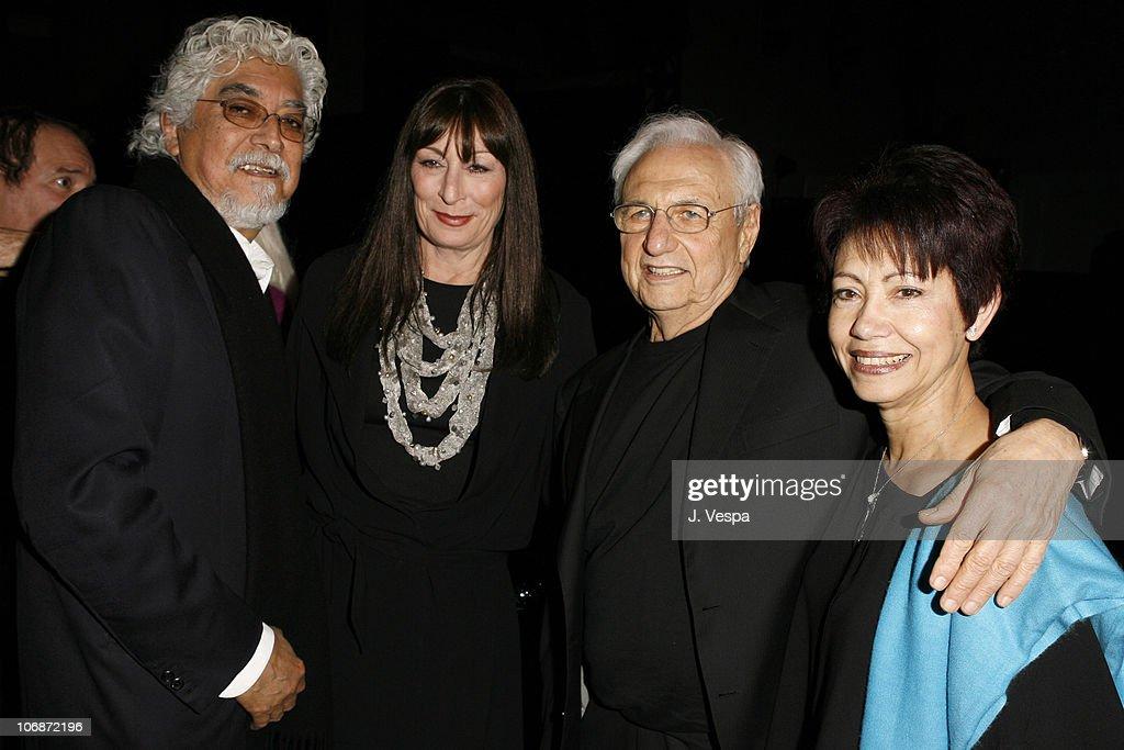Robert Graham, Anjelica Huston, Frank Gehry and Berta Gehry
