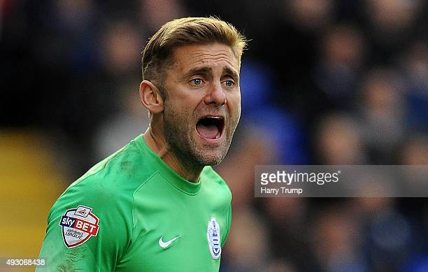 Robert Green of Queens Park Rangers during the Sky Bet Championship match between Birmingham City and Queens Park Rangers at St Andrews on October 17...