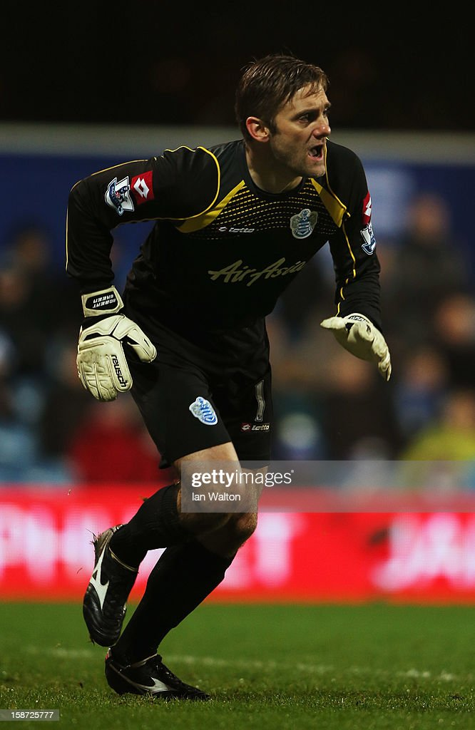 Robert Green the Queens Park Rangers goalkeeper in action during the Barclays Premier League match between Queens Park Rangers and West Bromwich Albion at Loftus Road on December 26, 2012 in London, England.