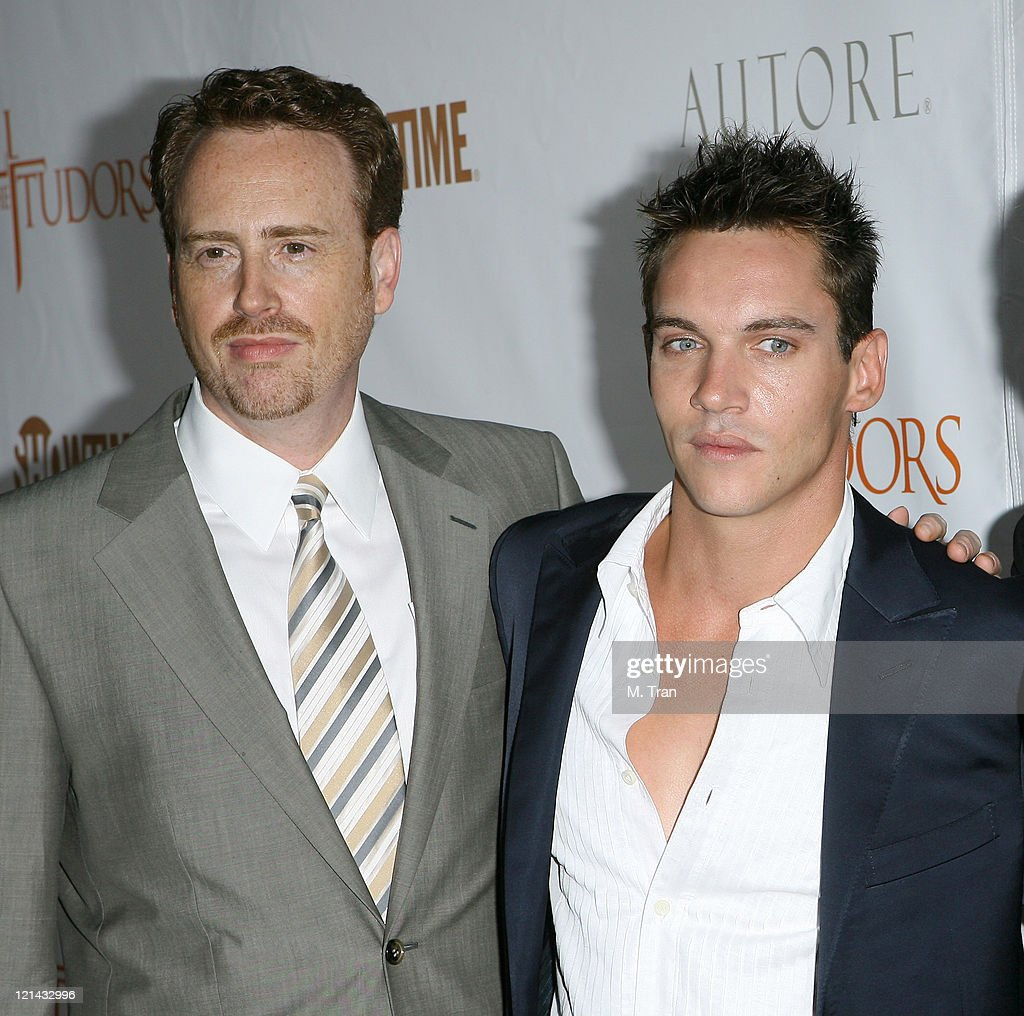 Robert Greenblatt and Jonathan Rhys Meyers during 'The Tudors' Los Angeles Premiere - Arrivals at Egyptian Theatre in Hollywood, California, United States.