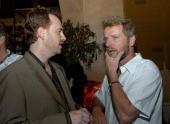 Robert Greenblatt president of Showtime Entertainment and Aidan Quinn