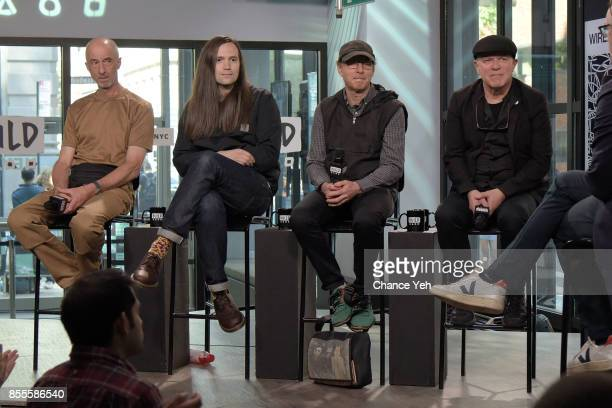 Robert Grey Matthew Simms Colin Newman and Graham Lewis of Wire attend Build series to discuss the new album 'Silver/Lead' at Build Studio on...