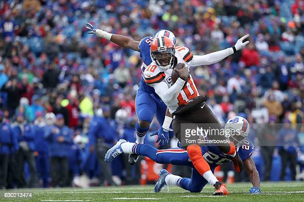 Robert Griffin III of the Cleveland Browns runs the ball against the Buffalo Bills during the second half at New Era Field on December 18 2016 in...