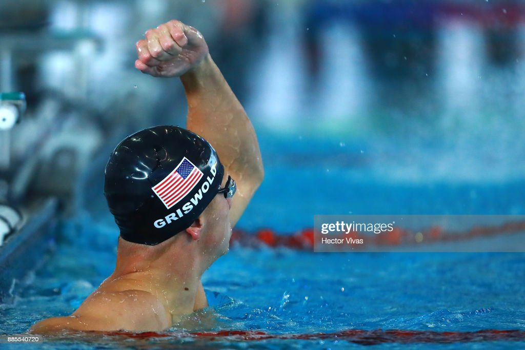 robert griswold of united states celebrates after winning the mens 100 m backstroke s8