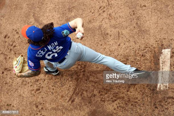 Robert Gsellman of the New York Mets prepares to pitch on Wednesday March 8 2017 at the Ballpark of the Palm Beaches in West Palm Beach Florida