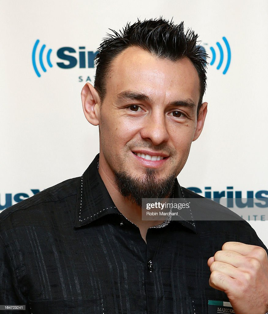 Robert Guerrero visits at SiriusXM Studios on March 27, 2013 in New York City.