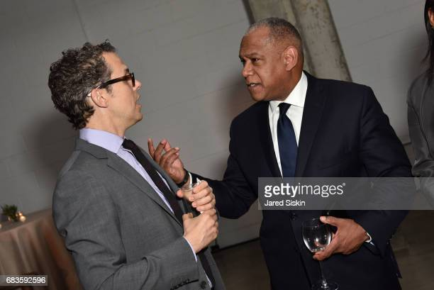 Robert Hammond and Mitchell Silver attend The 2017 High Line Spring Benefit at Skylight Modern on May 15 2017 in New York City