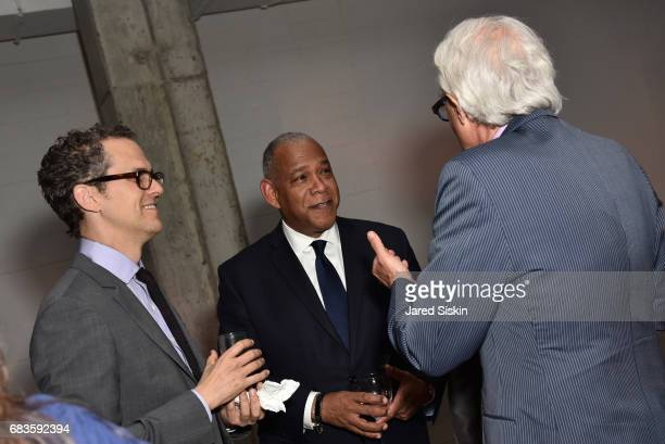 Robert Hammond Mitchell Silver and John Alschuler attend The 2017 High Line Spring Benefit at Skylight Modern on May 15 2017 in New York City