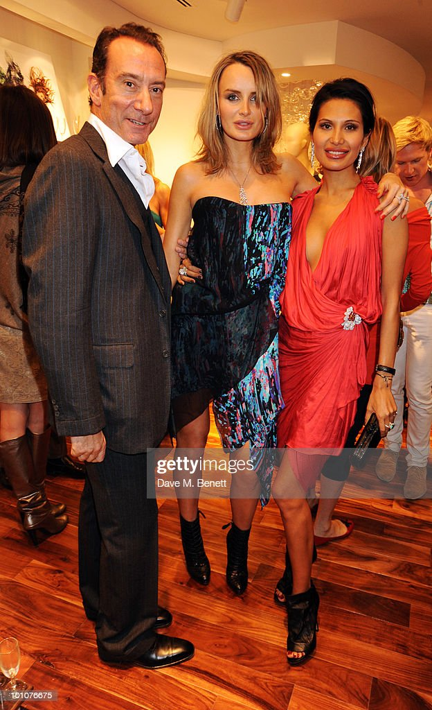 Robert Hanson and Masha Markova with Goga Ashkenazi attend the store opening of BCBGMAXAZRIA on May 27, 2010 in London, England.
