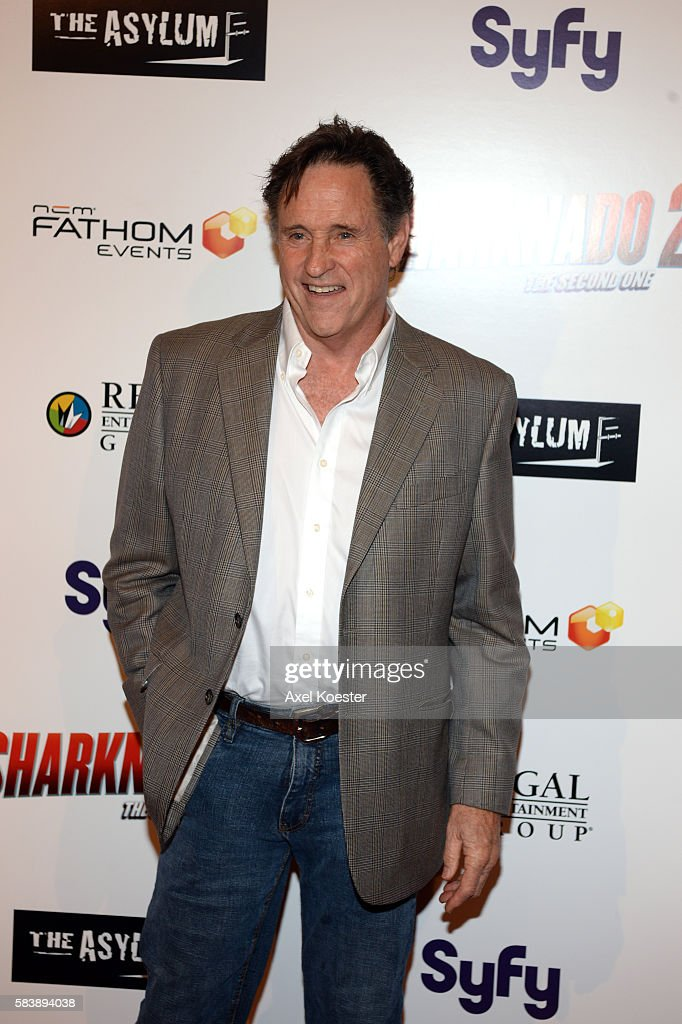 Robert Hays arrives to the premiere of Sharknado 2 The Second One held at the Regal Cinemas at LA Live Thursday evening