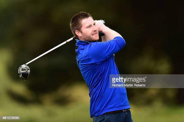 Robert Henderson of Dean Wood GC tees off during the Titleist FootJoy PGA Professional Championship North West Qualifier at Delamere Forest Golf Club...