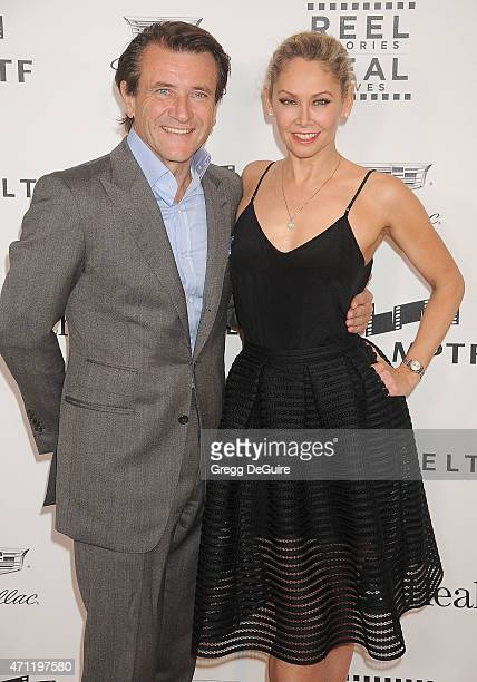 Robert Herjavec and Kym Johnson arrive at the 4th Annual Reel Stories Real Lives event benefiting the Motion Picture Television Fund at Milk Studios...