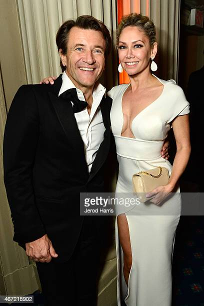 Robert Herjavec and Kym Johnson attend the 2015 Royal Ball Hollywood Gala at Millennium Biltmore Hotel on March 21 2015 in Los Angeles California