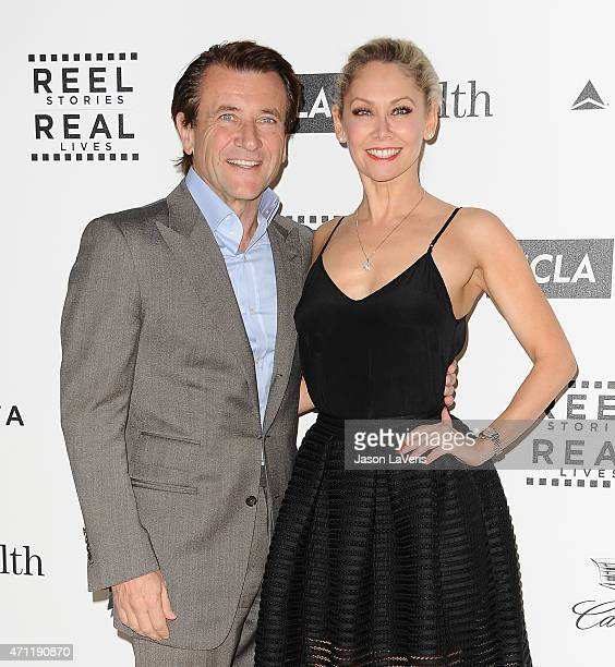 Robert Herjavec and Kym Johnson attend the 4th annual Reel Stories Real Lives event benefiting Motion Picture Television Fund at Milk Studios on...
