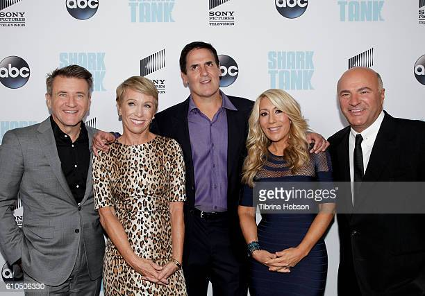 Robert Herjavec Barbara Corcoran Mark Cuban Lori Greiner and Kevin O'Leary attend the 'Shark Tank' season 8 premiere at Viceroy L'Ermitage Beverly...