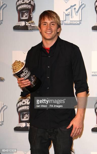 Robert Hoffman in the press room at the 2008 MTV Movie Awards at Universal Studios in Los Angeles California