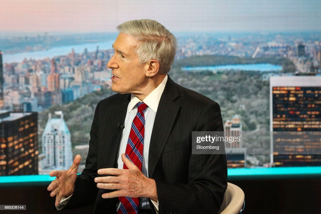 Robert Hormats, vice chairman of Kissinger Associates Inc., speaks during a Bloomberg Television interview in New York, U.S., on Friday, May 19, 2017. Hormats discussed President Trump's Middle East trip and outlook for the region. Photographer: Christopher Goodney/Bloomberg via Getty Images