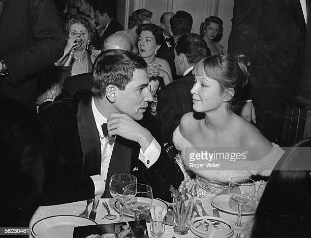 Robert Hossein and Marina Vlady French actors France about 1960 RV737026
