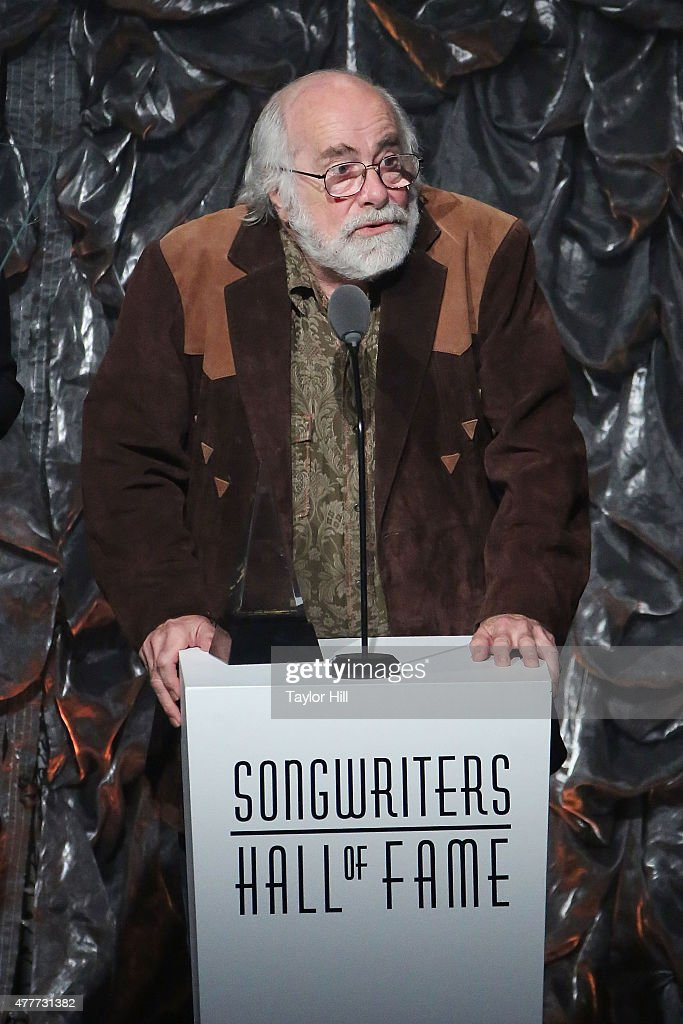Robert Hunter speaks during the Songwriters Hall Of Fame 46th Annual Induction And Awards at Marriott Marquis Hotel on June 18 2015 in New York City