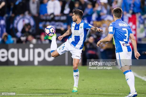 Robert Ibanez of Deportivo Leganes in action during their La Liga match between Deportivo Leganes and Real Madrid at the Estadio Municipal Butarque...