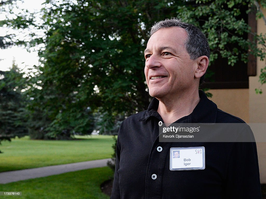 Robert Iger, CEO of The Walt Disney Company, arrives to Allen & Co. annual conference on July 12, 2013 in Sun Valley, Idaho. The resort will host corporate leaders for the 31st annual Allen & Co. media and technology conference where some of the wealthiest and most powerful executives in media, finance, politics and tech gather for weeklong meetings which begins Tuesday. Past attendees included Warren Buffett, Bill Gates and Mark Zuckerberg.