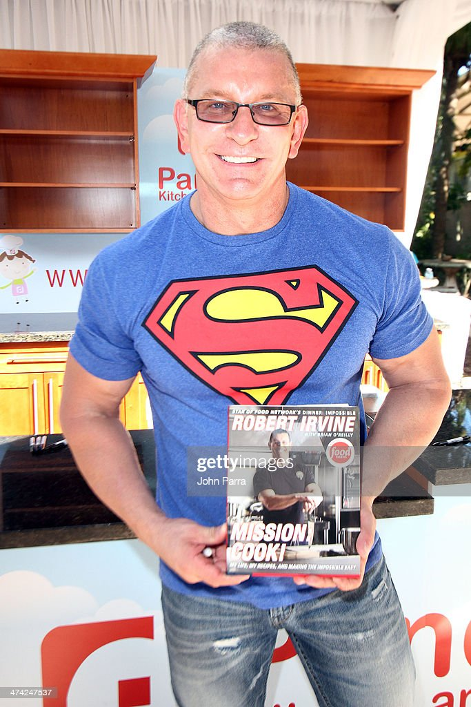Robert Irvine attends Fun And Fit As A Family Sponsored By Carnival Featuring Goya Kidz Kitchen Hosted By Robert Irvine during the Food Network South Beach Wine & Food Festival at Jungle Island on February 22, 2014 in Miami, Florida.