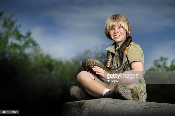 Robert Irwin poses at Australia Zoo in Beerwah on the Sunshine Coast on March 21 2015 in Queensland Australia
