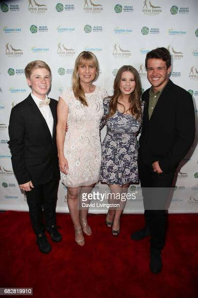 Robert Irwin Terri Irwin Bindi Irwin and Chandler Powell attend the Steve Irwin Gala Dinner at the SLS Hotel at Beverly Hills on May 13 2017 in Los...