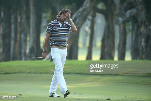 Robert Jan Derksen of The Netherlands during the 2nd round of the 2014 Hong Kong open at The Hong Kong Golf Club at The Hong Kong Golf Club on...