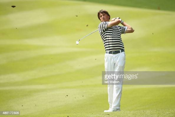 Robert Jan Derksen of The Netherlands in action during round one of the 2014 Maybank Malaysian Open at Kuala Lumpur Golf Country Club on April 17...