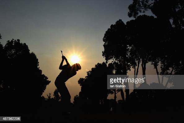Robert Jan Derksen of The Netherlands in action during the 2nd round of the 2014 Hong Kong open at The Hong Kong Golf Club at The Hong Kong Golf Club...