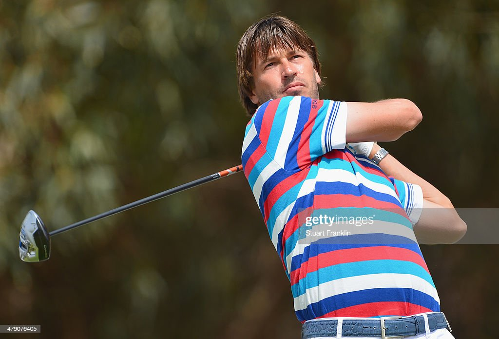 Robert Jan Derksen of The Netherlands plays a shot during the final round of the Trophee Hassan II Golf at Golf du Palais Royal on March 16 2014 in...