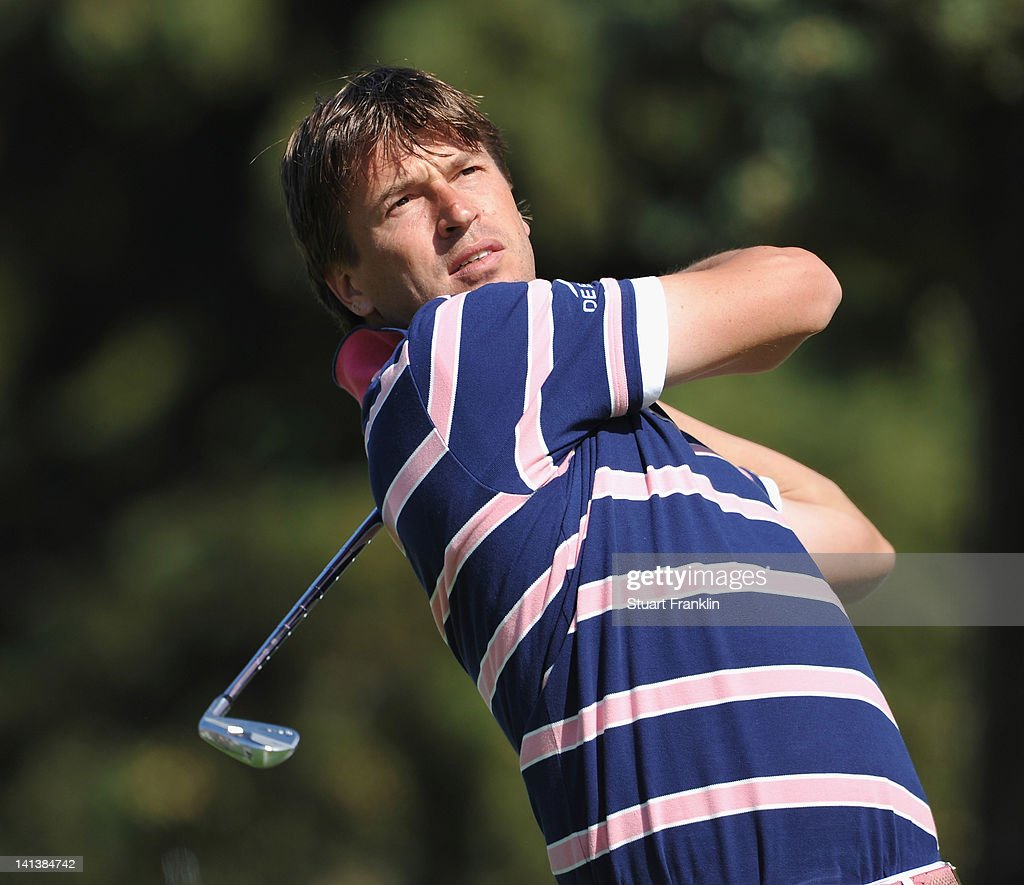 Robert Jan Derksen of The Netherlands plays a shot during the first round of the Open de Andalucia Costa del Sol at Aloha golf club on March 15 2012...