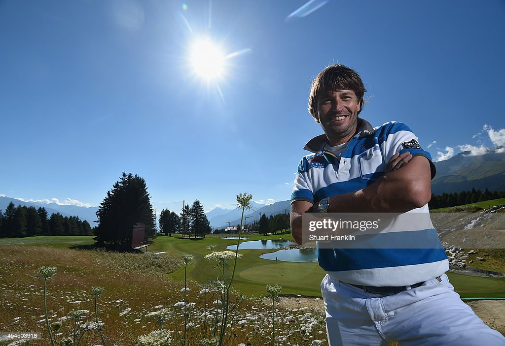 Robert Jan Derksen of The Netherlands poses for a picture during practice prior to the start of the Omega European Masters at CranssurSierre Golf...