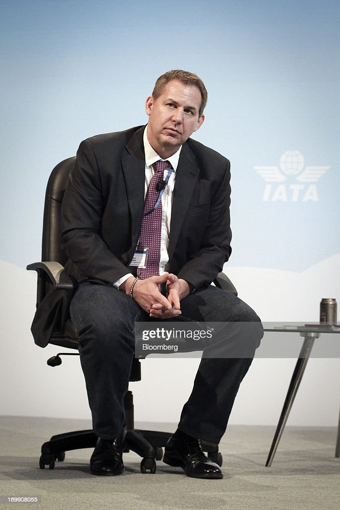 Robert Jensen, chief executive officer of Kenyon International Emergency Services, pauses during the International Air Transport Association's (IATA) annual general meeting in Cape Town, South Africa, on Tuesday, June 4, 2013. Airline earnings will be 20 percent higher this year than forecast just three months ago as capacity cuts help pack planes to record levels, the International Air Transport Association said today. Photographer: Nadine Hutton/Bloomberg via Getty Images