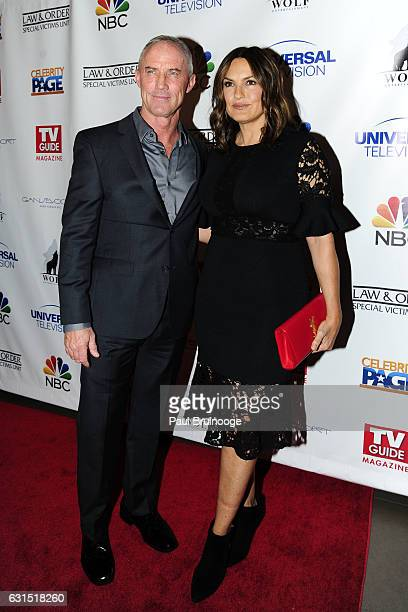 Robert John Burke and Mariska Hargitay attend TV Guide Celebrates Mariska Hargitay at Gansevoort Park Avenue on January 11 2017 in New York City