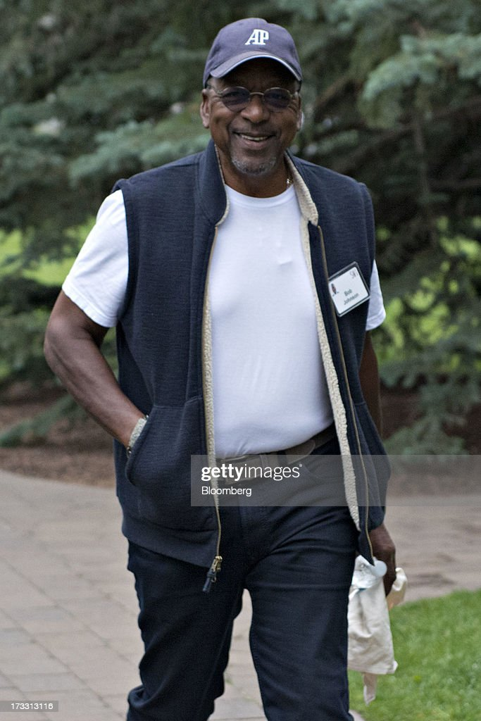 Robert Johnson, founder of Black Entertainment Television (BEWT), arrives for a morning session during the Allen & Co. Media and Technology Conference in Sun Valley, Idaho, U.S., on Thursday, July 11, 2013. Executives from media, finance and politics mingle at the mountain resort between presentations on business trends and social issues, brought together by New York investment banker Herb Allen. Photographer: Daniel Acker/Bloomberg via Getty Images